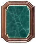 Walnut Plaque with Green Marble Plate Achievement Awards