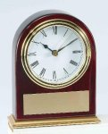 Piano Finish Mahogany Slanted Arch Clock Achievement Awards
