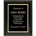 Ultra Gloss Black Plaque Achievement Awards
