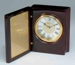 Piano Finish Mahogany Book Clock Boss Gift Awards