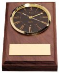 American Walnut Wedge Clock Boss Gift Awards