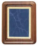 Walnut Plaque with Blue Marble Plate Employee Awards