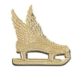 Winged Ice Skate Chenille Pin Lapel Pins