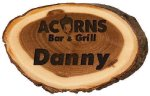 Genuine Wood Log Name Badge Name Badges | Plates