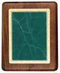 Walnut Plaque with Green Marble Plate Sales Awards