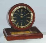 American Walnut Finish Round Clock Secretary Gift Awards