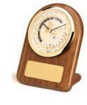 American Walnut Arch World Clock Secretary Gift Awards