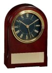 American Walnut Finish Arch Clock Secretary Gift Awards